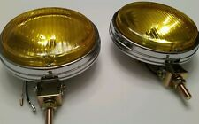 Vintage car truck van bumper mount round chrome fog lights bmw e30 e10 2002tii