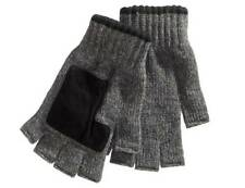 $166 Ryan Seacrest Men'S Gray Black Fingerless Knit Warm Winter Gloves One Size