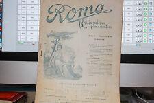 ROMA RIVISTA POLITICA PARLAMENTARE ANNO II FASCICOO XXXI OTTOBRE 1898 LETTERE IN