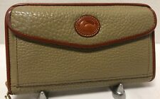 Vintage*W51*Dooney & Bourke *Taupe* Zip-Along Crossbody Wallet*19013Q S220