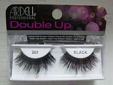 (LOT OF 6) Ardell Double up 203 False Lashes Eyelashes Black Strip Fake