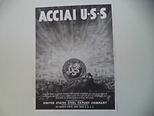 advertising Pubblicità 1944 ACCIAI USS UNITED STATES STEEL EXPORT COMPANY