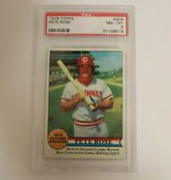 1979 Topps #204 Pete Rose Cincinnati Reds PSA 8 NM-MT HOF