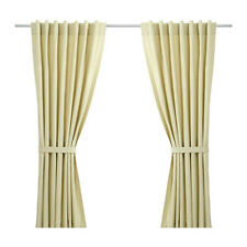 Ikea Beige Taby Pair of Lined Cortinas 145 X 165 cm con amarre para