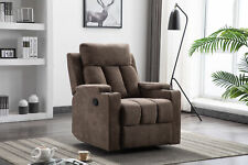 Modern Recliner Chair Living Room Lounge Heavy Duty with Cup Holders Furniture