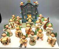 WENDT & KUHN ERZGEBIRGE vtg GERMAN CHRISTMAS ORCHESTRA 16 green dot wood ANGELS