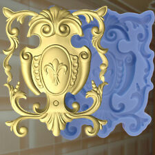 Gießformen Verzierung Silikonformen Gips Ornament Relief Deckenverzierung  (175)