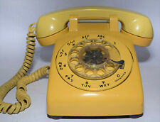 Vtg. Rotary Dial BELL SYSTEM by WESTERN ELECTRIC TELEPHONE - Mustard Yellow