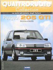 MAGAZINE BOOK QUATTRORUOTE PEUGEOT 205 MODELLINO AUTO LIVRE 1:24 MINIATURE LIBRO