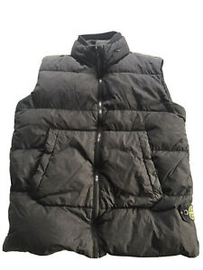 Boys Black Stone Island Body Warmer