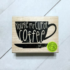 Cup of Coffee Rubber Stamp Wood Mounted Hero Arts Craft USA Made