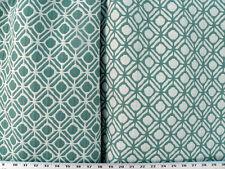 Drapery Upholstery Fabric Reversible Geometric Jacquard - Teal