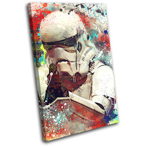Storm Trooper Star Wars Movie Greats SINGLE CANVAS WALL ART Picture Print
