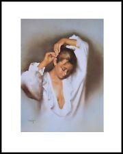 Domingo Girl I Poster Kunstdruck Bild mit Alu Rahmen in schwarz 50x40cm