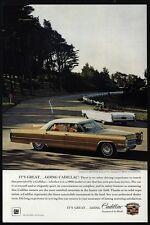 1966 CADILLAC Gold Sedan DeVille & White DeVille Convertible Car VINTAGE AD