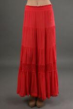 NWT  Red SUNAHARA Il Vento Skirt in POPPY Size 2 (S/M) Boho Gypsy