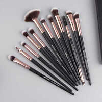 UK 12Pcs Pro Eyeshadow Makeup Brush Set Eyeliner Blending Blusher Brushes Kits