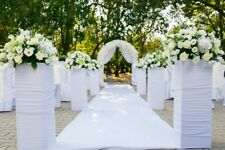 Extra wide white aisle runner, 48'x150'L