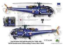 [FFSMC Productions] Decals 1/72 Alouette III Gendarmerie basique et dernier vol