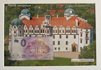 BILLET 0  EURO CELLE HERZOGSCHLOSS ENCART  ALLEMAGNE  2018 NUMERO 100