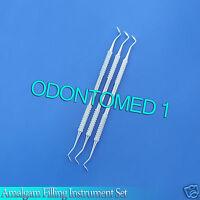 Dental Amalgam Filling Instrument Mortonson #2, 3 Pieces Set