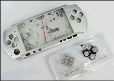 F Silver Full Housing Shell Case Cover Faceplate Buttons f Sony PSP3000 PSP 3000