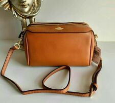 Coach Bennett crossbody sling caramel brown