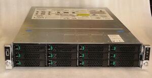 Intel Server Chassis R2312WTXXX w/ Motherboard S2600WT2,2x PSU,2x SAS9300-8i,3.5