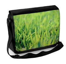 Blades of Grass with Dew Laptop Messenger Bag