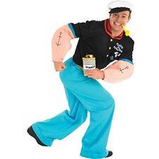 Costume Marinaio Travestimento Uomo Braccio di Ferro Carnevale Cosplay Popeye