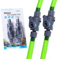 2pcs Single Tap Connector 16mm Control Valve Aquarium Quick Tap- Hoseing  Flow