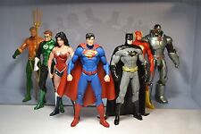 7Pcs Set Justice League Action Figures DC Universe Superman Batman Flash Aquaman