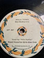 "78 Rpm; Don McDiarmid w/ ""Hilo Hattie"" ; Hula Town & My Wahine And Me"