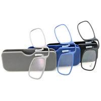1Set Unisex Optics Presbyopic Nose Clip Reading Glasses Clear Lens +1.5/2.0/2 FT