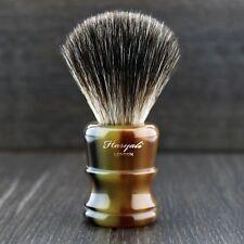 HORN Handle Men's Shaving Brush With Black Badger Synthetic Long Lasting Fibre