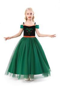 ELSA & ANNA® Girl Fancy Dress Snow Queen Princess Dress Halloween Costume AN2103