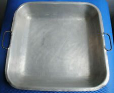 VINTAGE LARGE ALUMINIUM CATERING TRAY PAN SERVING DISH - SAMUEL GROVES & CO 1948