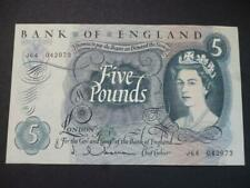 More details for 1963 j q hollom 1963 five pounds note in uncirculated condition, duggleby b297.