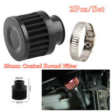 2x Conical Round 25mm Crankcase Ventilation Filter Engine Cold Air Intake Filter
