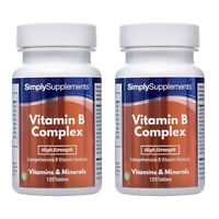 Vitamin B Complex * BUNDLE DEAL 120+120 Tablets * 100% NRV