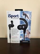 USED Monster iSport Immersion In-Ear Headphones with ControlTalk 128700-00 Black