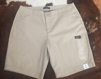 New Woman's LEE Bermuda SHORTS Size 16 Tan Relaxed Fit Mid Rise