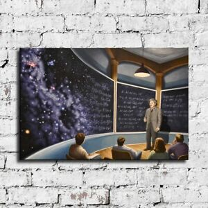 """36x24"""" Rob Gonsalves """"Chalkboard Universe"""" HD print on canvas large size picture"""