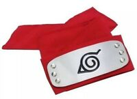 "Naruto Sakura Red Leaf Village Headband 37"" Cosplay Anime 4"" x 1.6"" US Seller"