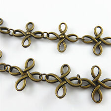 1m Vintage Bronze Metal Alloy Celtic Knot Charms Jewelry Necklace Extender 32885