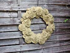 massiver Blütenkranz Rosenblüten Blumenkranz Grabschmuck Gartendeko Steinguss