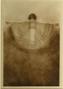 Adelaide Hanscom - Woman Arms Outstretched 1905 - Tissue Photogravure Rubaiyat