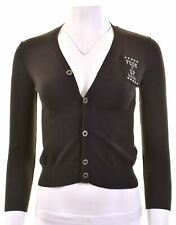 DIESEL Womens Cardigan Sweater Size 10 Small Black Cotton  BC09