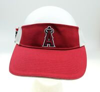 Anaheim Angels Drew Pearson MLB Genuine Merchandise Red Baseball Visor Adj Hat