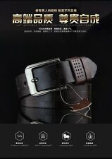 Coffee Color PU Leather Men's Belt with Alloy Buckle Fashionable Men Accessory